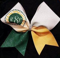 RSC Monogram Glitter Cheer Bow