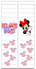 Red, White & Cute Ready to Press Sublimation Graphic