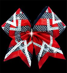 Victoria Rhinestone Cheer Bow - All Colors