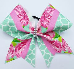 Lilly Inspired Blossom Glitter Cheer Bow