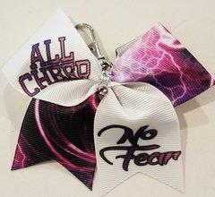 All Cheer No Fear Mini Ribbon Keychain Bow