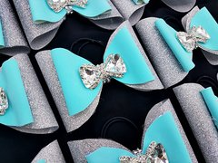 Tiffany Rhinestone Bow Double Tailless Cheer Bow