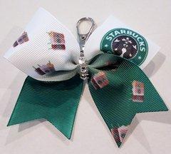 Starbucks Mini Ribbon Keychain Bow