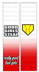 Good Girls Steal Softball Cheer Bow Ready to Press Sublimation Graphic