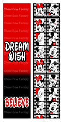 Dream Wish Believe Mickey Cheer Bow Ready to Press Sublimation Graphic