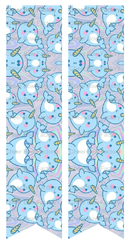 Narwhal Ready to Press Sublimation Graphic