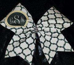 lSm Monogram Glitter Cheer Bow