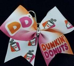 Dunkin Donuts Mini Ribbon Keychain Bow