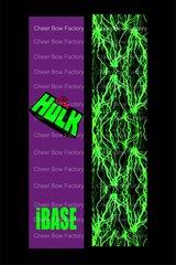 She Hulk iBASE Cheer Bow Ready to Press Sublimation Graphic