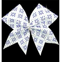 Lexi Rhinestone Cheer Bow Royal & White