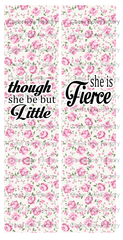 though she be but little Cheer Bow Ready to Press Sublimation Graphic