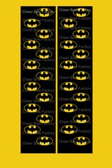 Batman Cheer Bow Ready to Press Sublimation Graphic