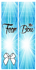 Fear The Bow Cheer Bow Ready to Press Sublimation Graphic
