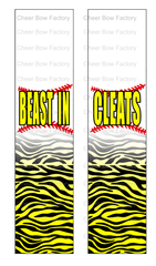 Beast in Cleats Softball Cheer Bow Ready to Press Sublimation Graphic