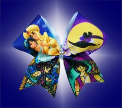 Aladdin Stained Glass Glitter Cheer Bow