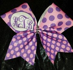 kTb Monogram Glitter Cheer Bow