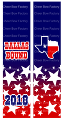 Dallas Bound Cheer Bow Ready to Press Sublimation Graphic