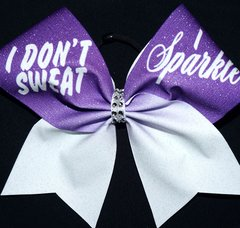 I don't Sweat I Sparkle Cheer Bow