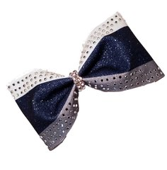 Triple Glitter Rhinestone Tailless Cheer Bow - all colors