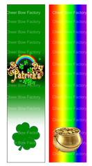 St. Patricks Day Cheer Bow Ready to Press Sublimation Graphic