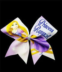 Princess Rapunzel Glitter Cheer Bow