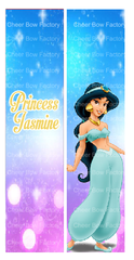 Princess Jasmine Cheer Bow Ready to Press Sublimation Graphic