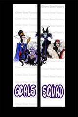 Squad Goals Disney Villains Cheer Bow Ready to Press Sublimation Graphic