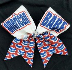 American BABE Glitter Cheer Bow