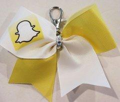 Snapchat Mini Ribbon Keychain Bow