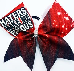 Haters Make Me Famous Glitter Cheer Bow