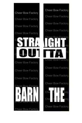 Straight Outta The Barn Equestrian Cheer Bow Ready to Press Sublimation Graphic
