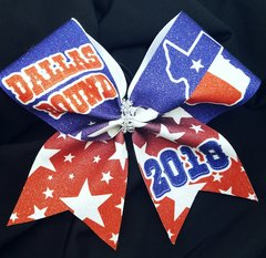 Dallas Bound Texas Nationals Glitter Cheer Bow