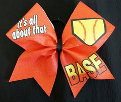 It's All About That Base Softball Bow