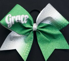 Custom Name Rhinestone Cheer Bow