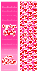 Daddy is my Valentine Cheer Bow Ready to Press Sublimation Graphic