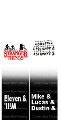 Stranger Things Cheer Bow Ready to Press Sublimation Graphic