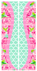 Lilly Inspired Blossom Cheer Bow Ready to Press Sublimation Graphic