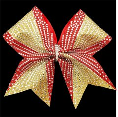Glitter Rhinestone Tara Cheer Bow - All Colors