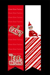 Elf On A Shelf Cheer Bow Ready to Press Sublimation Graphic