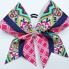 Lilly Inspired Glitter Cheer Bow