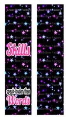 Skills Speak Louder Than Words Cheer Bow Ready to Press Sublimation Graphic