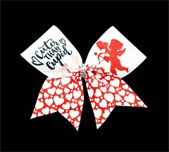 Cuter Than Cupid Glitter Cheer Bow