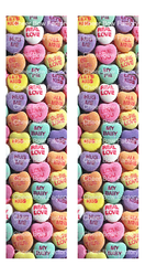 Candy Hearts Cheer Bow Ready to Press Sublimation Graphic