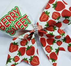Berry Sweet Strawberry Glitter Cheer Bow