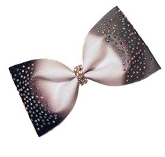 Triple Ombre Rhinestone Glitter Tailless Cheer Bow - all colors