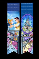 Cinderella Stained Glass Cheer Bow Ready to Press Sublimation Graphic