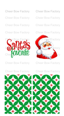 Santa's Favorite Cheer Bow Ready to Press Sublimation Graphic