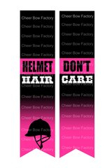 Helmet Hair Don't Care Equestrian Cheer Bow Ready to Press Sublimation Graphic