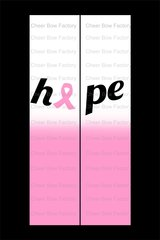 Hope Breast Cancer Awareness Cheer Bow Ready to Press Sublimation Graphic