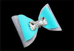 Tiffany Rhinestone Bow Double Tailless Cheer Bow